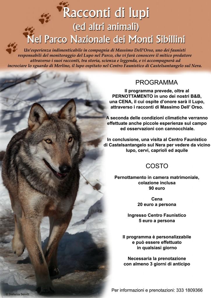 locandina racconti di lupi